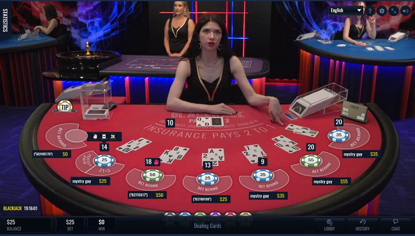 Meja Blackjack Vegas Crest Live
