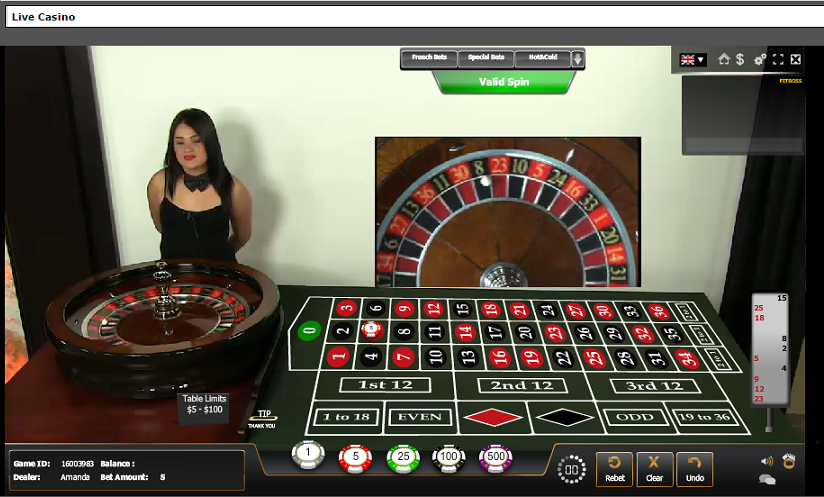 live casino bet online