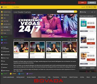 Bovada Live Casino Review - USA Live Dealer Casino