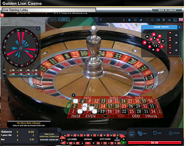 Live Dealer Roulette Table