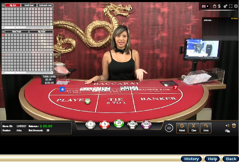 Live Dealer Baccarat Table