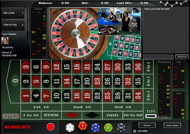 Black Diamond Live Roulette Table